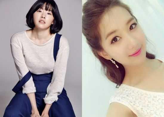 Hai ngôi sao cùng tên Lee Min Ji: Một người là diễn viên (trái), một người là hoa hậu (phải)