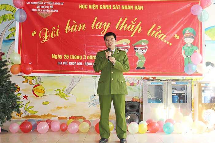 Trung Tá, TS Lê Quốc Huy (Phó Trưởng khoa Kỹ thuật hình sự) cho biết, đây là hoạt động thường niên của khoa Kỹ thuật hình sự - HV Cảnh sát Nhân dân.