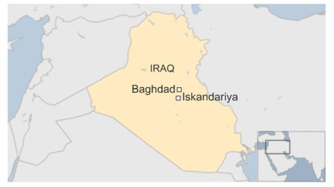 Địa điểm xảy ra vụ tấn công rất gần thủ đô Baghdad