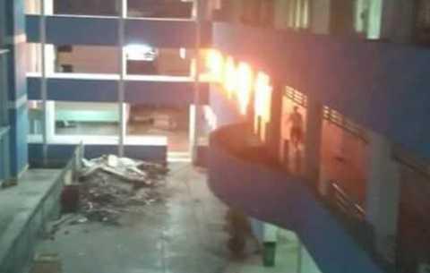 Bệnh viện Đa khoa tỉnh Tiền Giang bốc cháy, nhiều người tháo chạy trong đêm