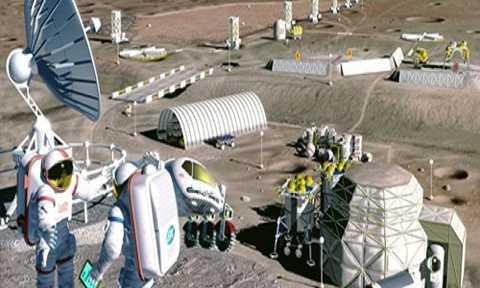 Con người có thể định cư trên Mặt Trăng vào năm 2022. Ảnh: NASA.