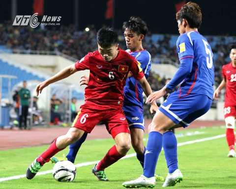 Xuân Trường là cầu thủ chơi hay nhất trận Việt Nam vs Đài Loan (Ảnh: Q.M)