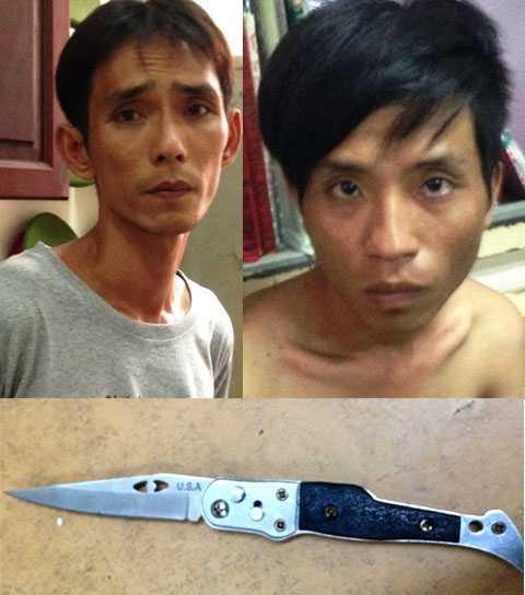 Nhóm cướp giật cùng hung khí gây án