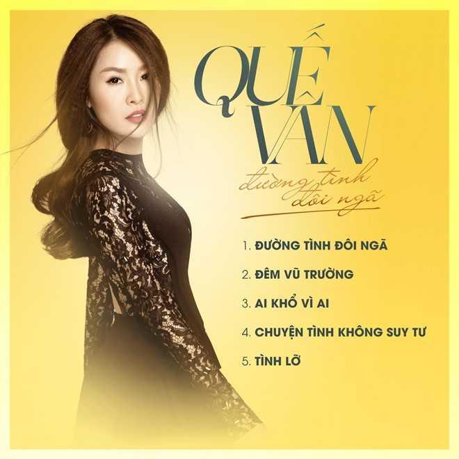 Quế Vân ra mắt album 'Chuyện tình đôi ngã' với loạt ca khúc đau khổ vì tình.