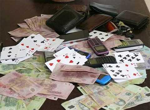 Tang vật vụ đánh bạc