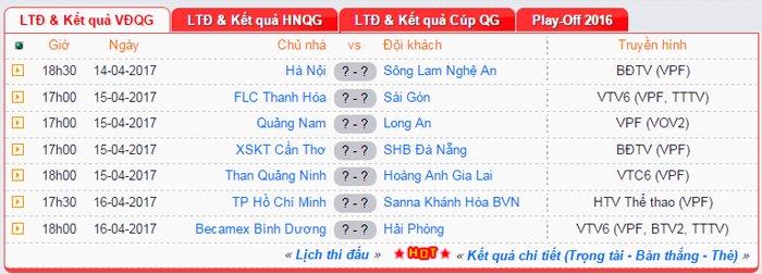 Link xem truc tiep Ha Noi FC vs SLNA vong 13 V-League 2017 hinh anh 1
