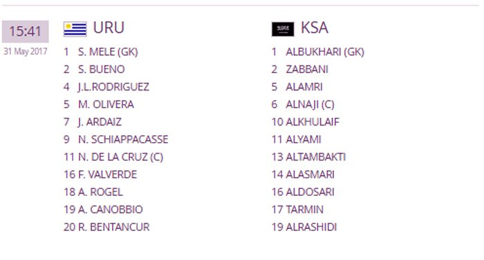 Video truc tiep U20 Uruguay vs U20 A Rap Saudi giai U20 the gioi 2017 hinh anh 1