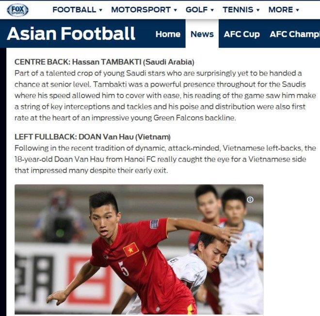 Sao tre nhat U20 Viet Nam vao doi hinh tieu bieu chau A World Cup U20 hinh anh 1