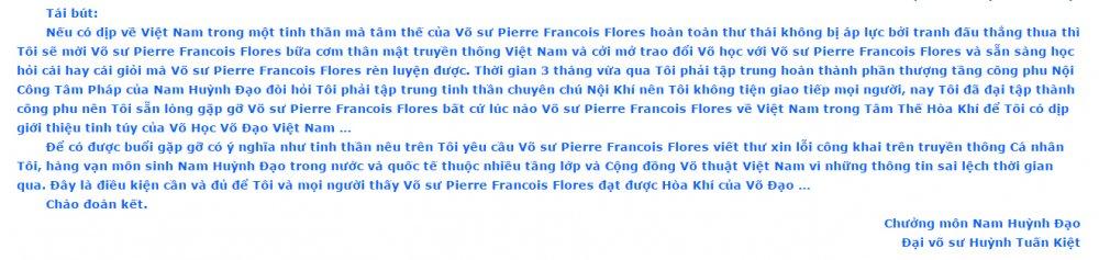 99% vo su Pierre Francois Flores khong the giao dau chuong mon Nam Huynh Dao hinh anh 1
