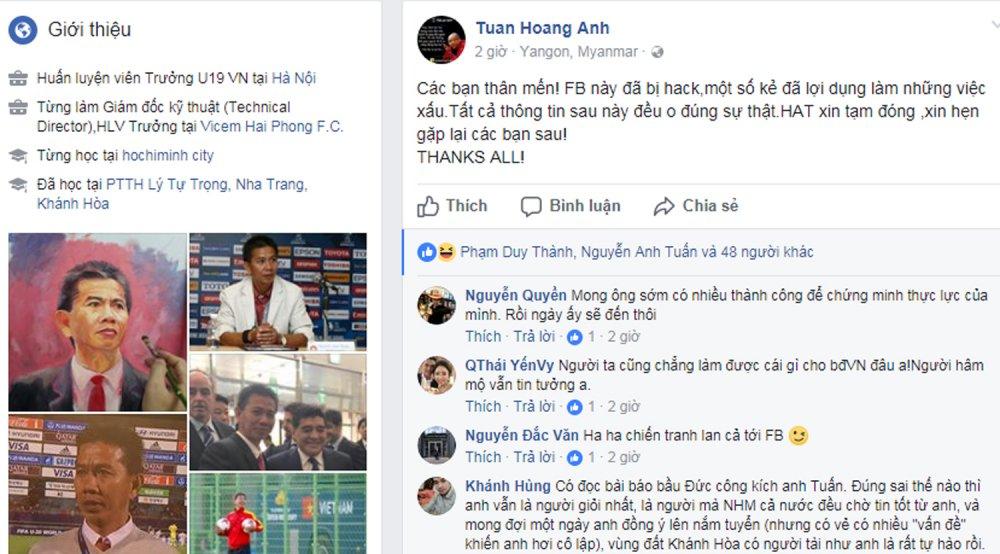 HLV Hoang Anh Tuan noi facebook bi tan cong, phu nhan muon lam thay Cong Phuong hinh anh 1