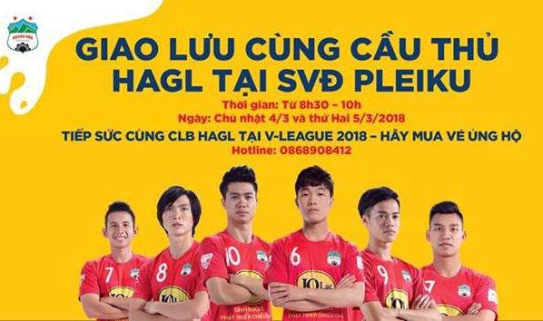 Cong Phuong, Xuan Truong toi san 'ban ve' ca mua cho fan HAGL hinh anh 1