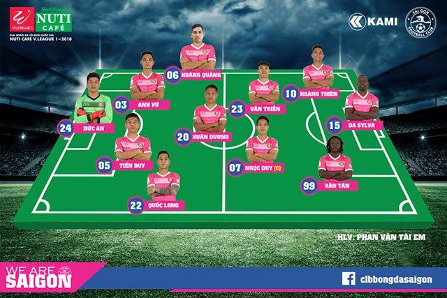 Video truc tiep Quang Nam vs Sai Gon vong 1 V-League 2018 hinh anh 1