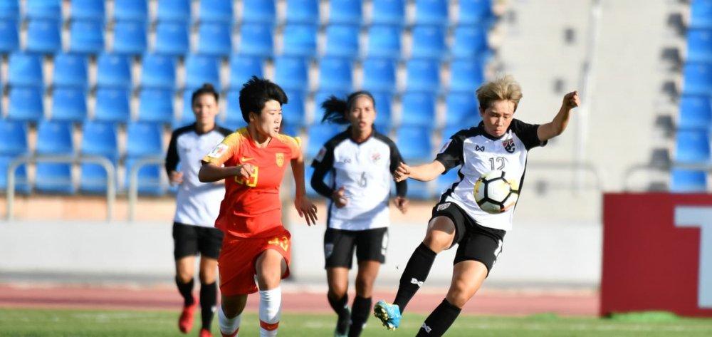 Trung Quoc vui dap Thai Lan o tran mo man Asian Cup nu 2018 hinh anh 1