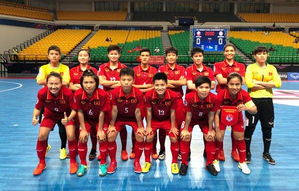 Ha Indonesia, tuyen Futsal nu Viet Nam vao ban ket chau A hinh anh 1