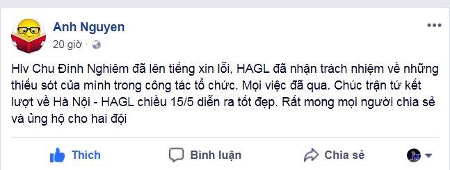 Truong doan HAGL Nguyen Tan Anh: Mong tran luot ve Ha Noi vs HAGL tot dep hinh anh 1