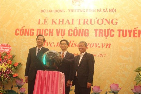 Bo Lao dong - Thuong binh va Xa hoi khai truong Cong dich vu cong truc tuyen hinh anh 1