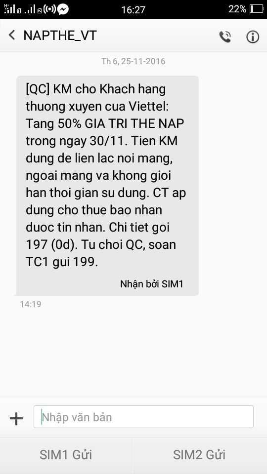 Sau lenh 'ngung' khuyen mai cua Bo TT&TT: Nha mang van gui tin nhan uu dai 50% cho khach hang? hinh anh 1