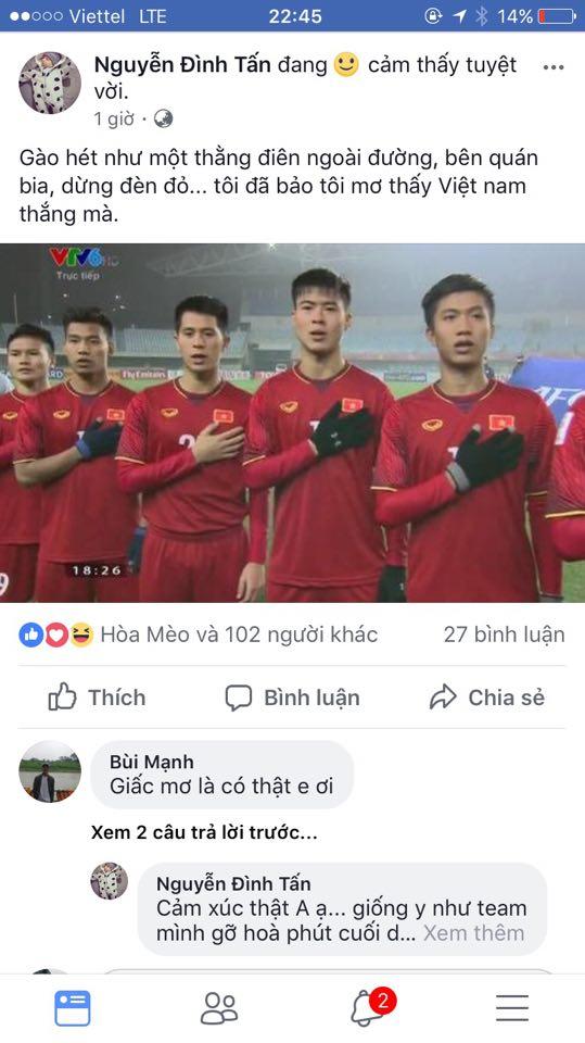 Cu dan mang cuòng nhiẹt chúc mùng chien thang cua U23 Viẹt Nam hinh anh 9