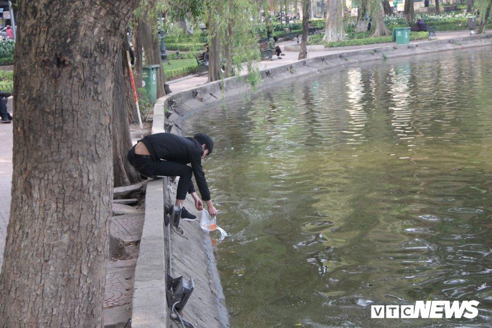 Anh: Tien ong Cong ong Tao ve troi, nguoi Ha Noi no nuc di tha ca chep hinh anh 8