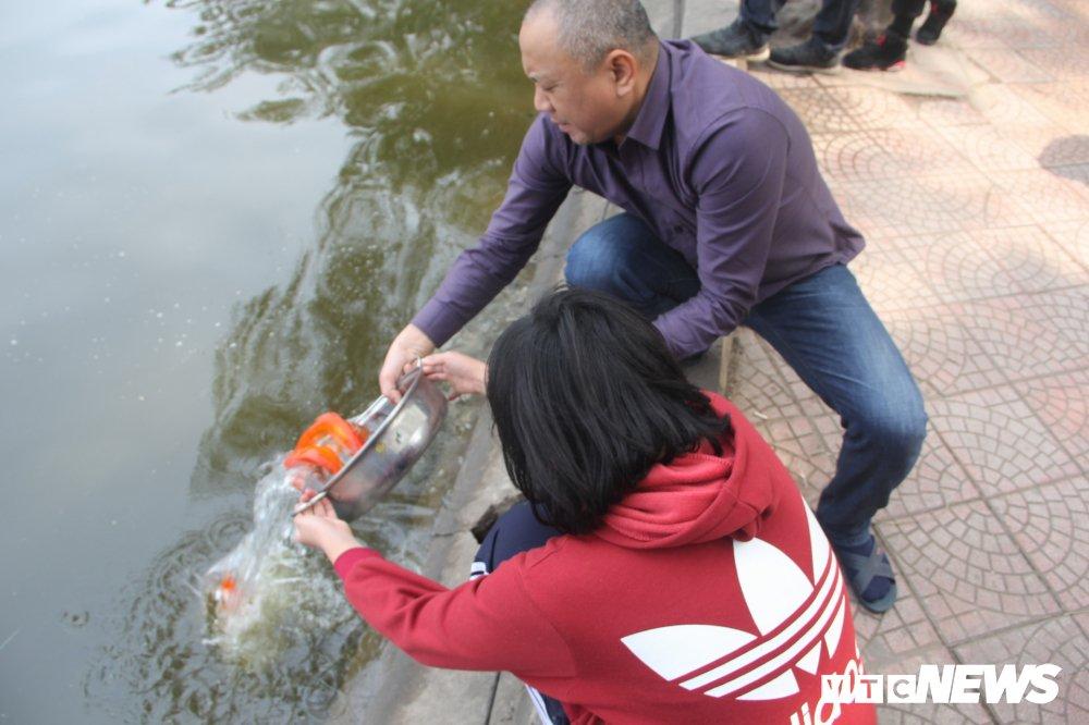 Anh: Tien ong Cong ong Tao ve troi, nguoi Ha Noi no nuc di tha ca chep hinh anh 7