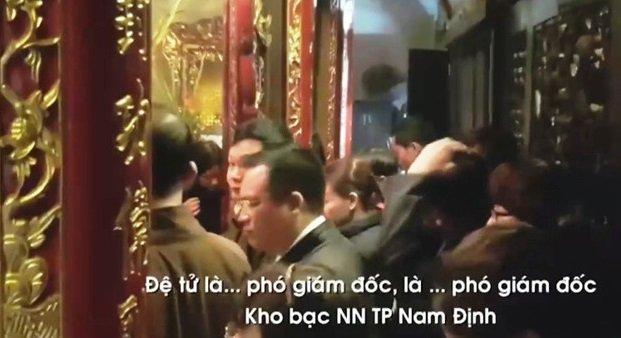 Giam doc Kho bac TP Nam Dinh di le gio hanh chinh mat chuc hinh anh 1