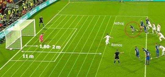 Bi kip de Sergio Ramos khong da hong penalty hinh anh 1