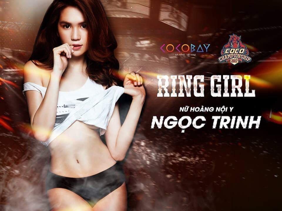 Ngoc Trinh se la Ring girl giai dau vo thuat lon nhat Viet Nam hinh anh 1
