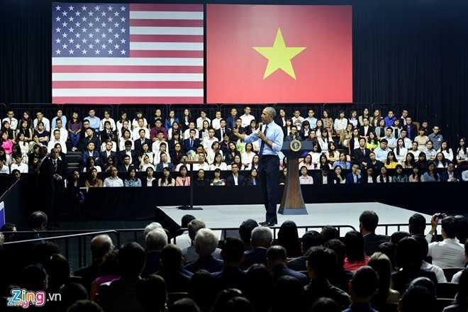 Yeu cau bat ngo truoc gio ong Obama tro chuyen voi 800 thu linh tre Viet Nam hinh anh 1