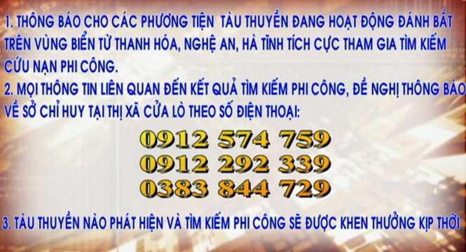 Cong bo so dien thoai 'nong' tim kiem phi cong Tran Quang Khai hinh anh 1