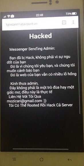 Su co tin tac san bay Tan Son Nhat: Hacker de lai loi nhan nhu the nao? hinh anh 1