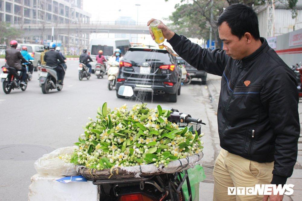 Anh: Ha Noi 'khoac ao' trang tinh khoi nhung ngay hoa buoi xuong pho hinh anh 8