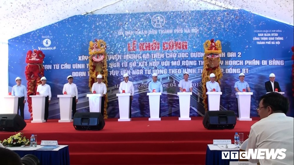 Ha Noi khoi cong tuyen duong tren cao 5,1km tong von 9.500 ty dong hinh anh 1