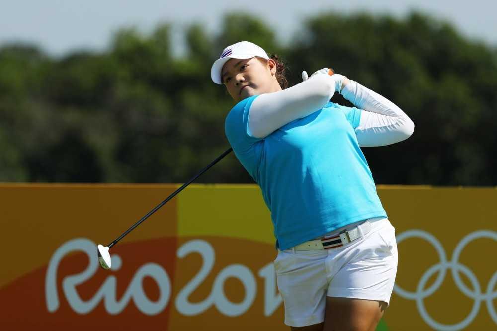 Nu golf thu Ariya Jutanugarn dan dau vong 1 mon golf nu Olympic Rio 2016 hinh anh 1