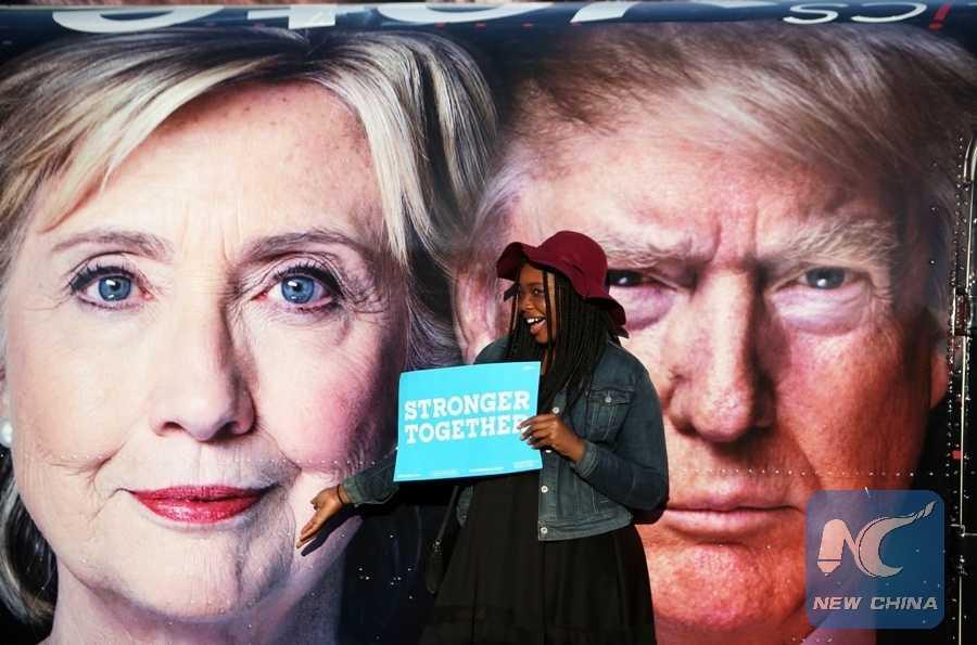 Sat ngay tranh luan bau cu Tong thong My lan cuoi, Hillary Clinton van bo xa Donald Trump hinh anh 1