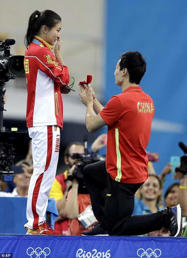 Olympic 2016: Man cau hon lang man cua ngoi sao nhay cau Trung Quoc hinh anh 1