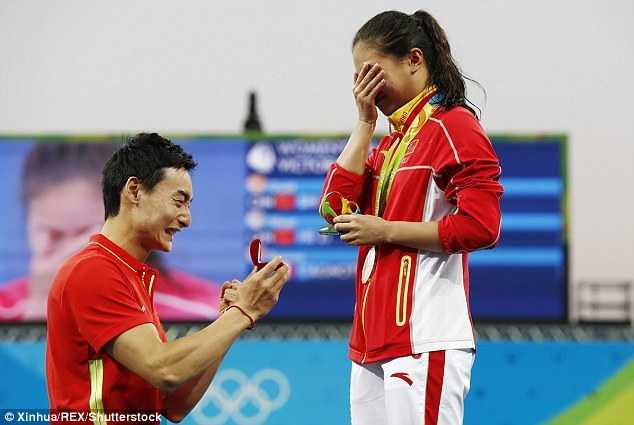 Olympic 2016: Man cau hon lang man cua ngoi sao nhay cau Trung Quoc hinh anh 2