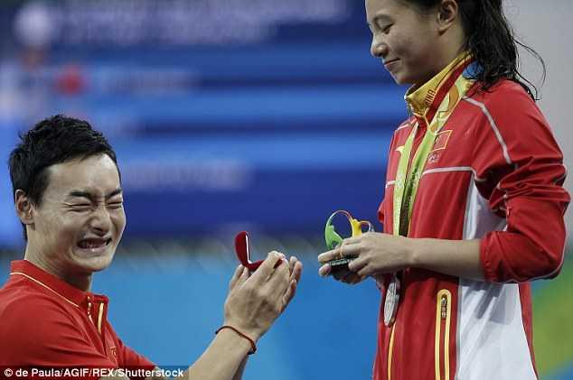 Olympic 2016: Man cau hon lang man cua ngoi sao nhay cau Trung Quoc hinh anh 3