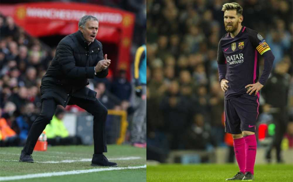 Bat luc voi Man Utd, Mourinho nham Leo Messi ve linh xuong hang cong hinh anh 1