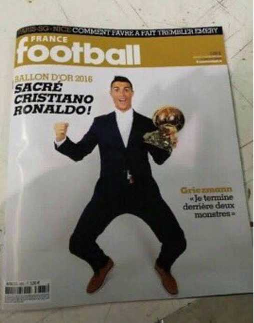 Clip: Ronaldo banh bao nhan Qua bong vang 2016 hinh anh 2