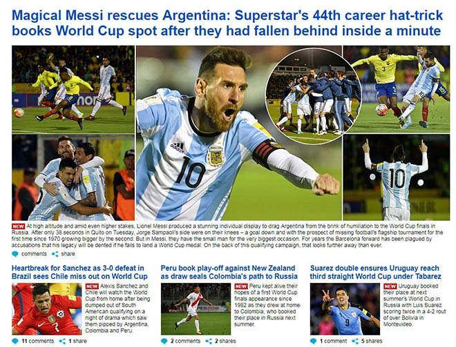 Mot minh cuu tuyen Argentina, Messi duoc tung ho nhu 'thanh than' hinh anh 1