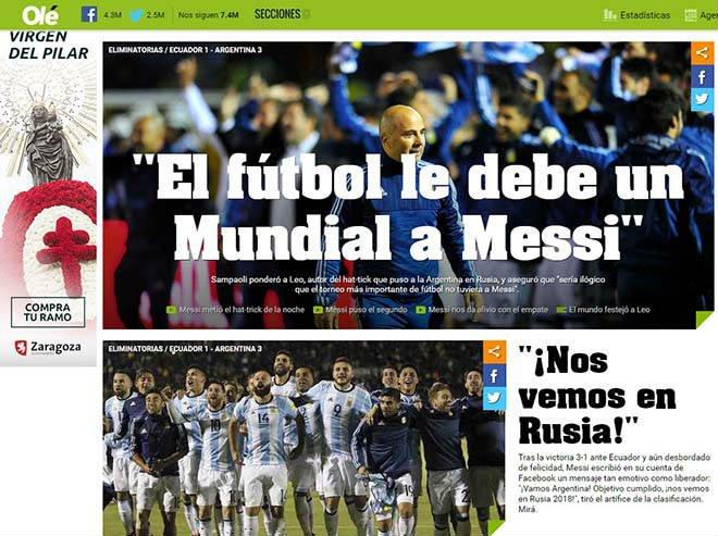 Mot minh cuu tuyen Argentina, Messi duoc tung ho nhu 'thanh than' hinh anh 2