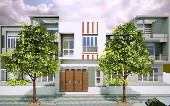 mặt tiền nhà 2 tầng đẹp, hiện đại