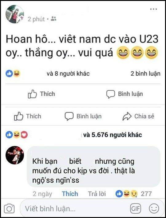 """Vui thôi đừng vui quá, có những người thể hiện mình nhiệt tình """"hâm mộ"""" U23 Việt Nam dù rằng… chẳng biết gì! - Ảnh 11."""