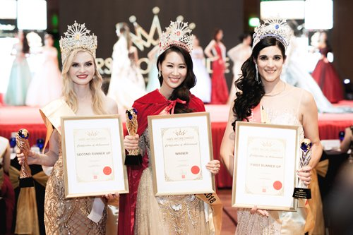 Duong Thuy Linh xin loi vi vi pham ban quyen video thi Mrs. Worldwide hinh anh 1
