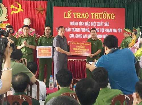 Thuong nong cho luc luong pha an ma tuy lon nhat Hai Duong hinh anh 1