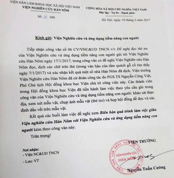 Su that vu tim thay mo Trang Trinh: Vien Nghien cuu Han Nom khang dinh the tre khong co chu hinh anh 2