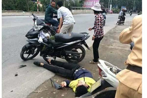 Tai xe vuot den do, tong trong thuong canh sat o Hai Phong hinh anh 2