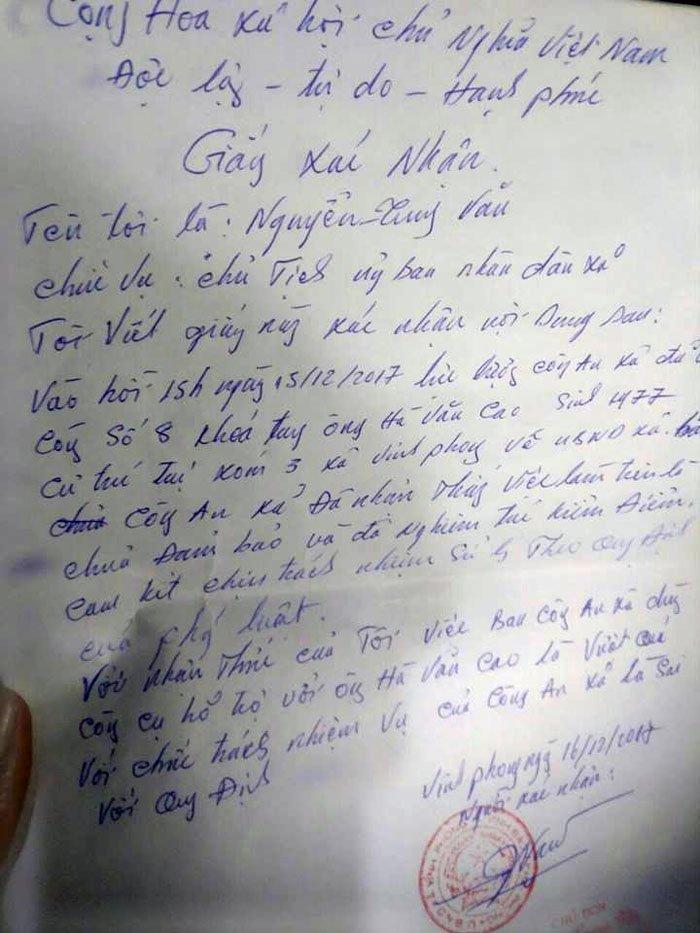 Cong tay dan phai xin loi o Hai Phong: Dinh chi cong tac 2 cong an xa hinh anh 2