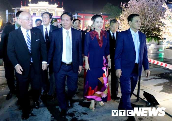 Anh: Hoa anh dao Nhat Ban khoe sac tren dat Cang khien nhieu nguoi thich thu hinh anh 6