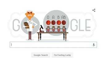 Karl Landsteiner tren doodle google ngay 14/6 la ai? hinh anh 1